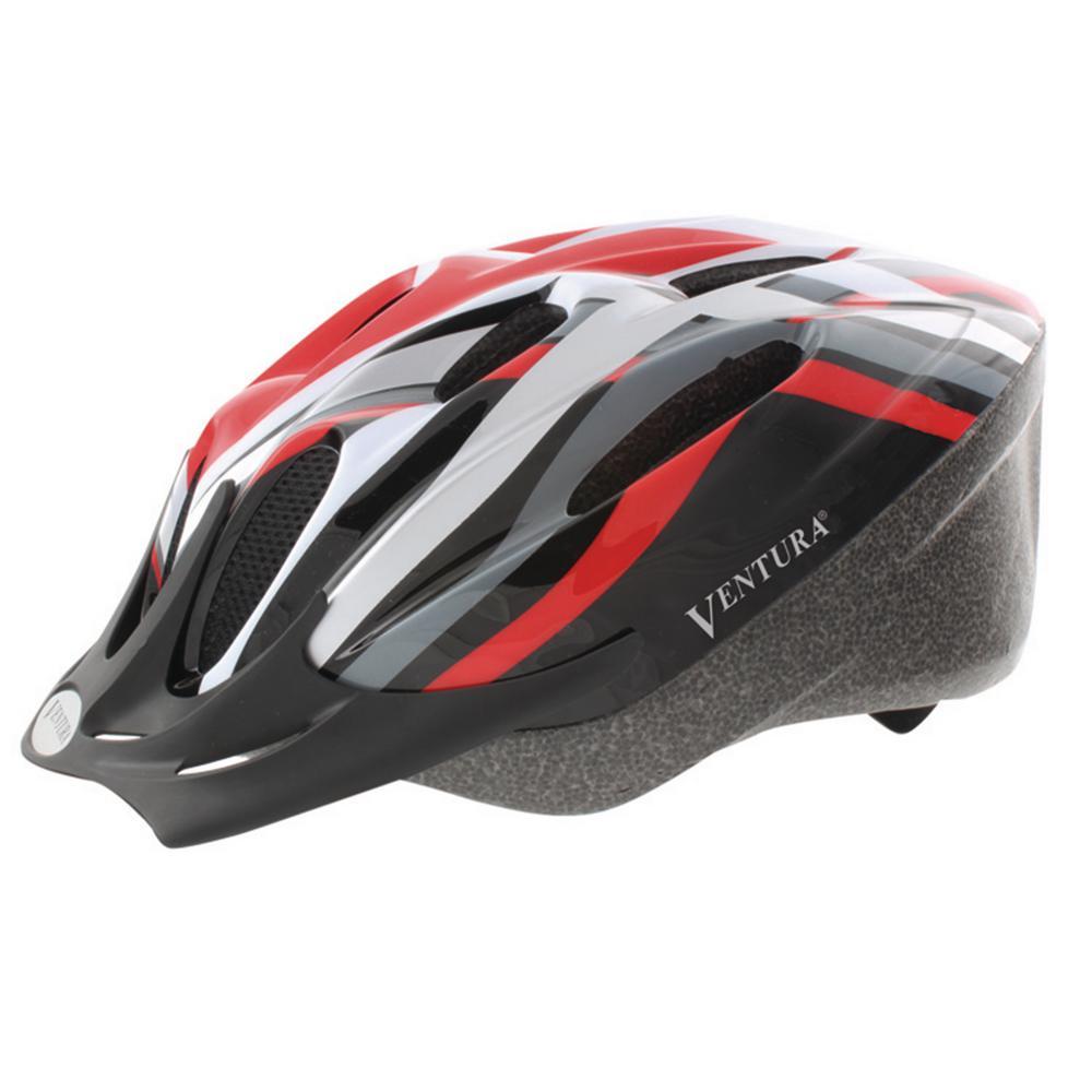 Heat Sport Large Bicycle Helmet in Red
