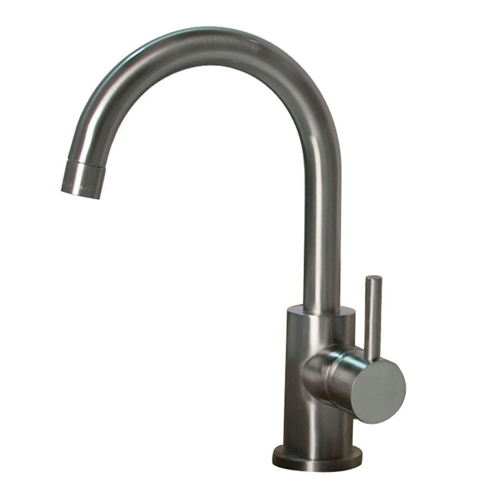 Barclay Products Spencer Single Hole 1-Handle High-Arc Bathroom Faucet in Brushed Nickel-DISCONTINUED