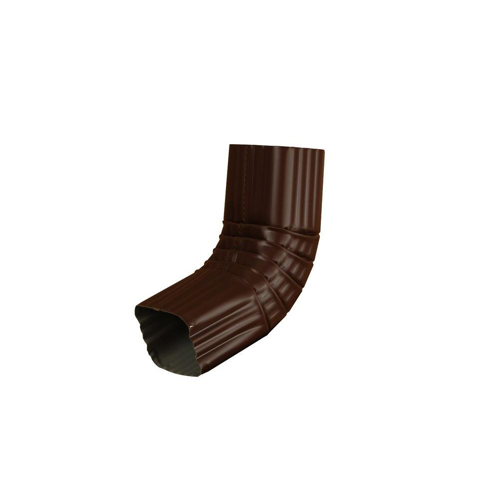Amerimax Home Products 3 In X 4 In Royal Brown Aluminum Downspout A Elbow 4aerb The Home Depot