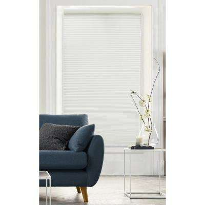 Cut-to-Size Pure White Cordless Light Filtering Cellular Shade - 35 in. W x 72 in. L (Actual Size 34.5 in. W x 72 in. L)