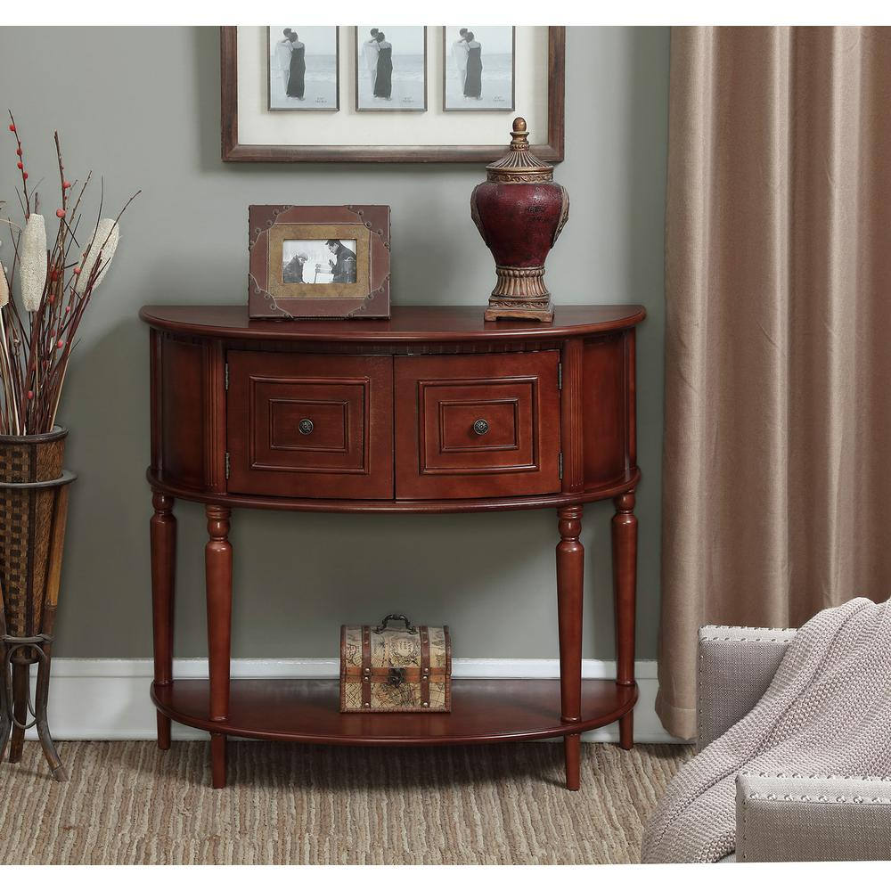Convenience concepts newport mozart mahogany console table american heritage normandy mahogany console table geotapseo Gallery