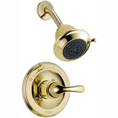 Classic 1-Handle Shower Faucet Trim Kit in Polished Brass (Valve Not Included)
