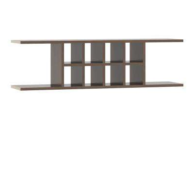 Ready to Assemble 48x13.5x11.25 in. Flex Wall Shelf in Cognac