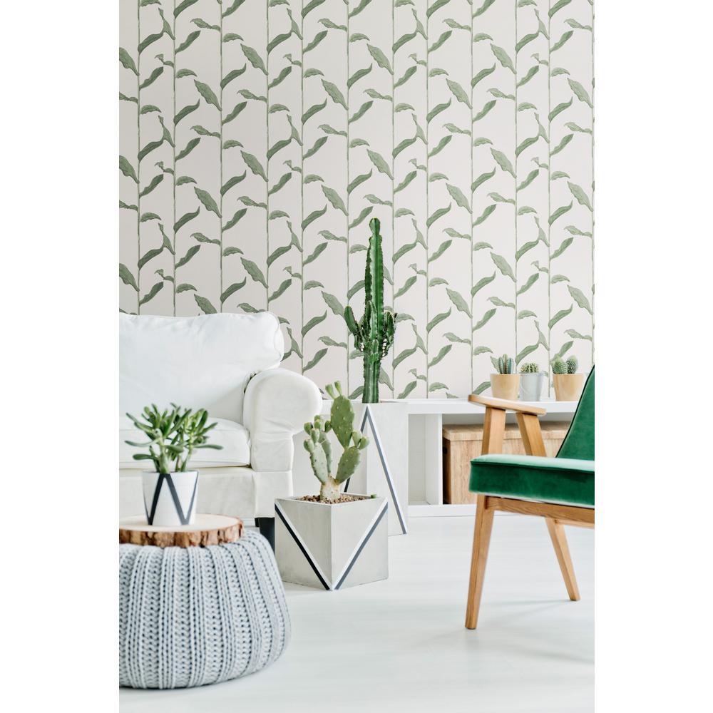 Nomad Collection Stalks in Linen Premium Matte Wallpaper
