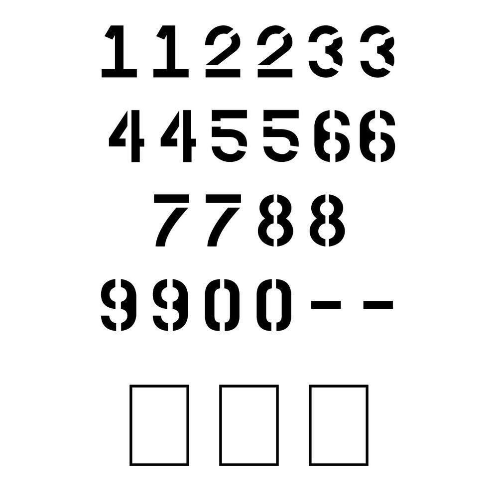 4 in. Parking Lot Number Set