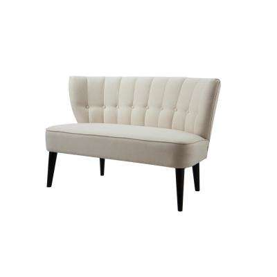 Becca Sky Neutral Tufted Settee