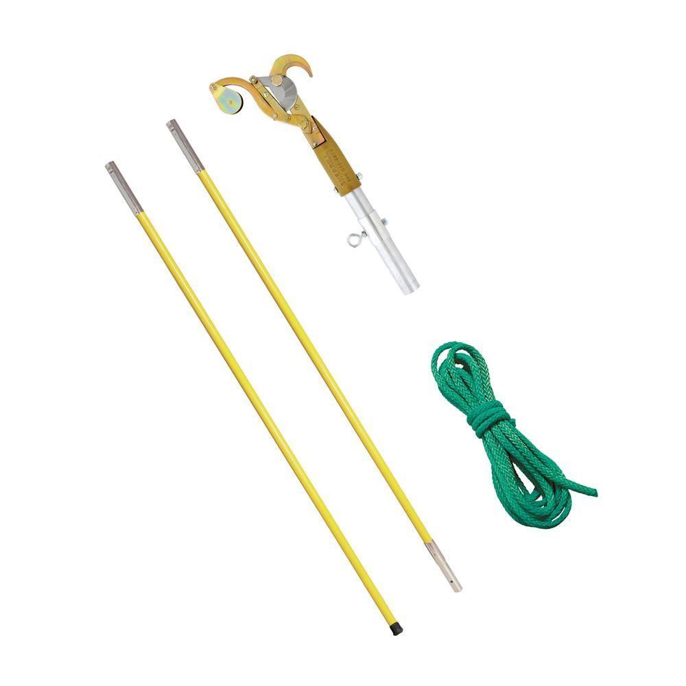 Pruner with 2 ft. - 6 ft. Yellow Fiberglass Poles