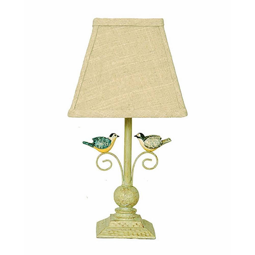 13 in. Light Green Novelty Lamp