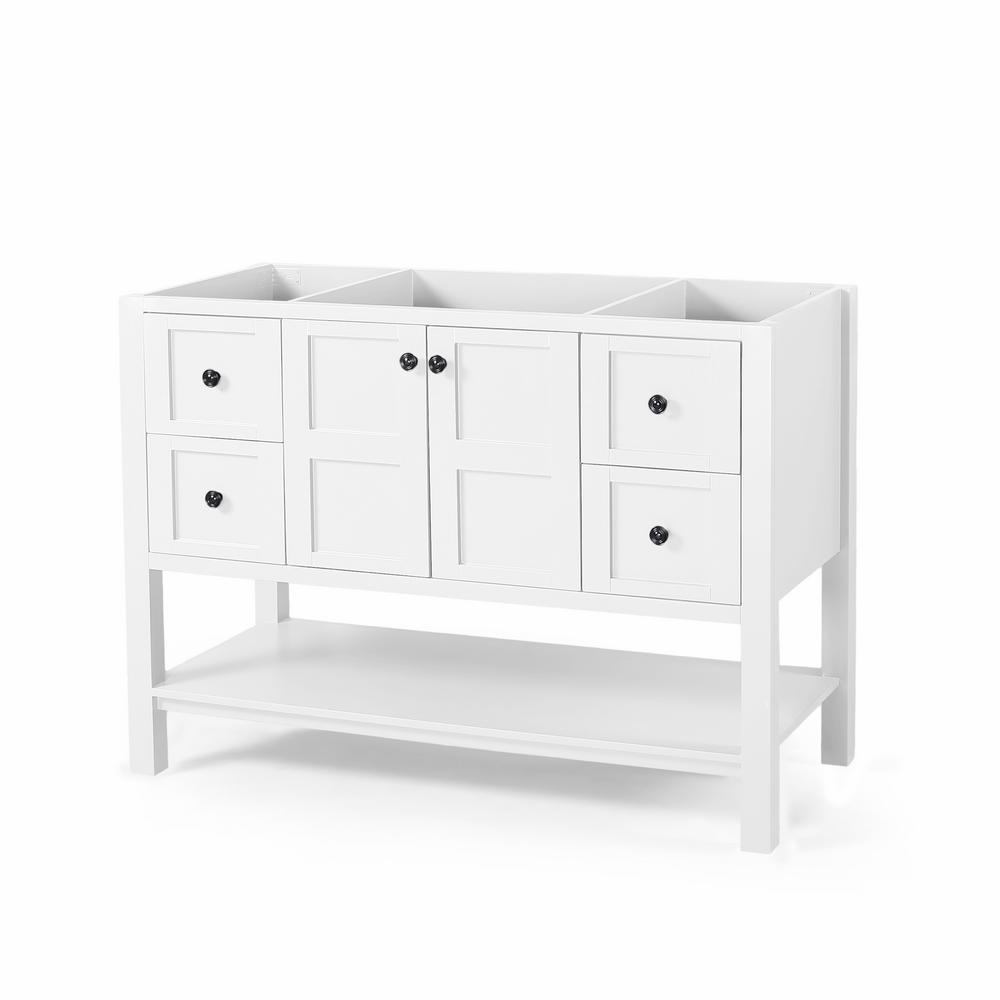 Jaeden 48 in. W x 22 in. D Bath Vanity Cabinet Only in White