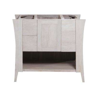 Curvature 36 in. W Teak Vanity Bath Cabinet Only in Driftwood