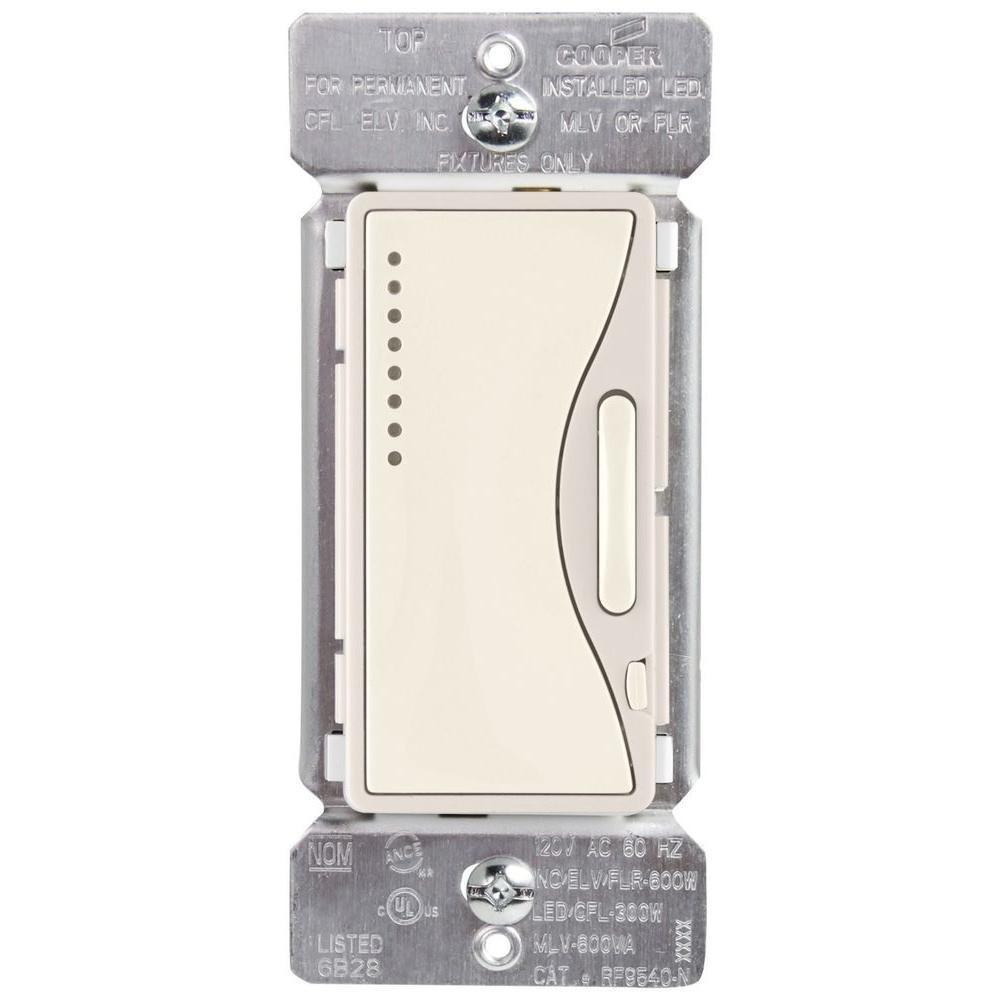 Aspire Single-Pole Multi-Location Master Dimmer Light Switch, Desert Sand
