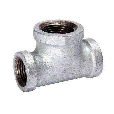 1/2 in. x 1/2 in. x 3/4 in. Galvanized Malleable Iron Reducing Tee