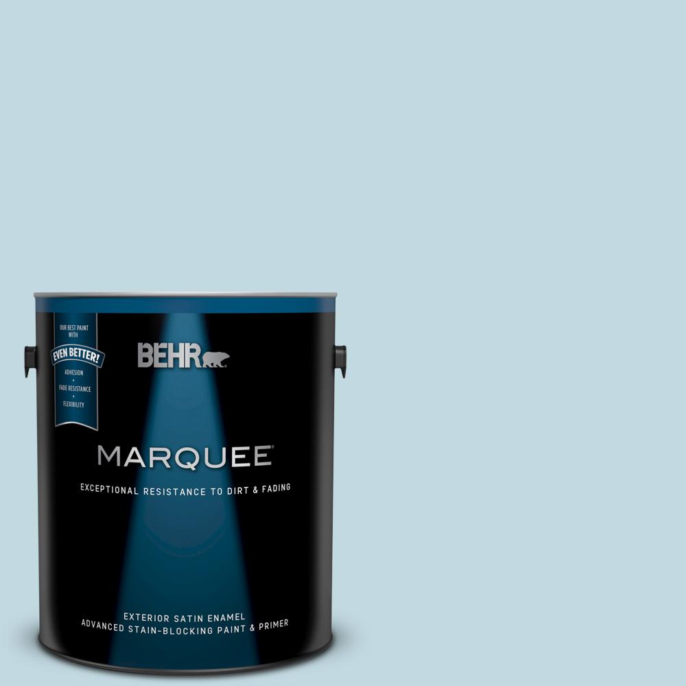 BEHR MARQUEE 1 gal  #S480-1 Rain Dance Satin Enamel Exterior Paint and  Primer in One