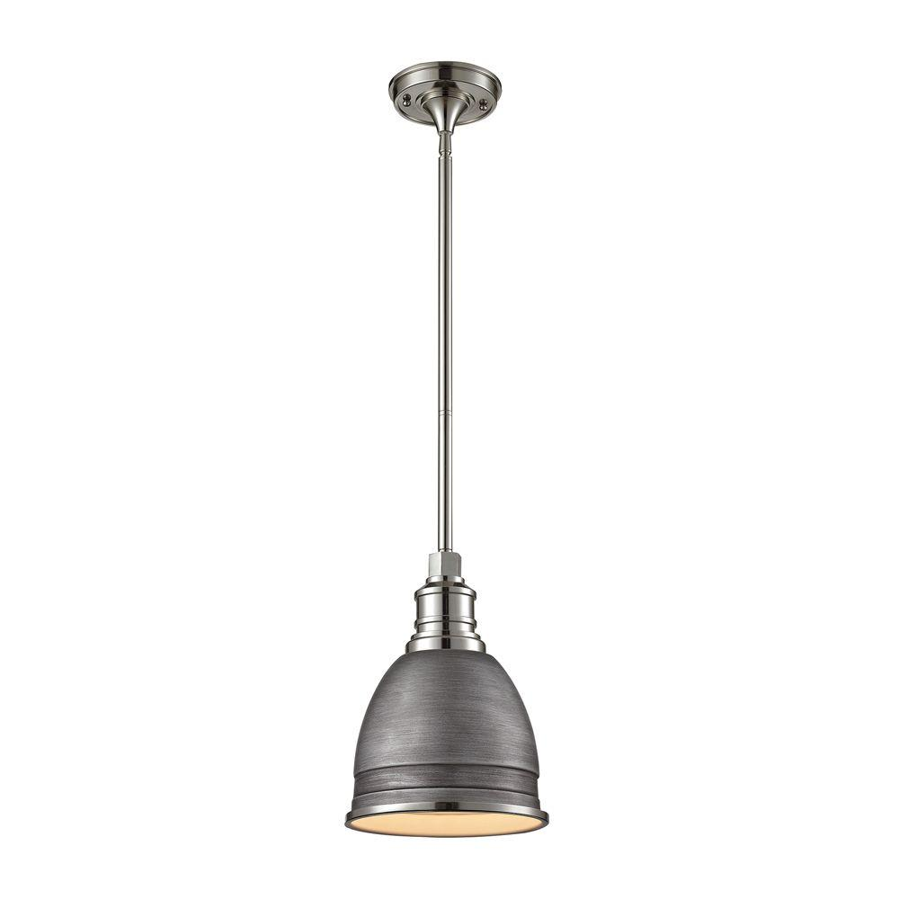 Titan lighting carolton 1 light weathered zincpolished nickel titan lighting carolton 1 light weathered zincpolished nickel pendant mozeypictures