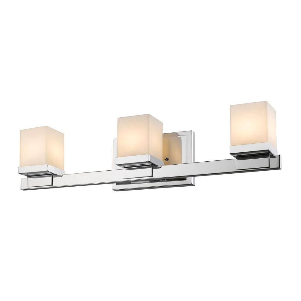 Mera 3-Light Chrome Bath Vanity Light