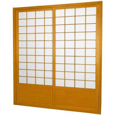 7 ft. Honey Shoji 2-Panel Sliding Door