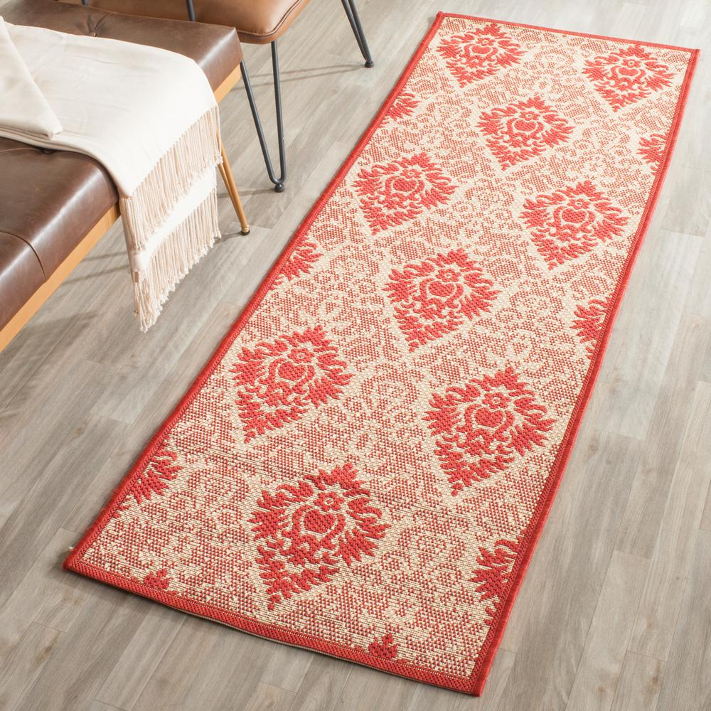 Courtyard Natural/Red 2 ft. 3 in. x 6 ft. 7 in.