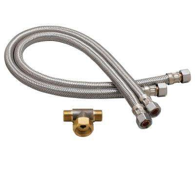 Commander Faucet Flex Hoses Set in Polished Chrome