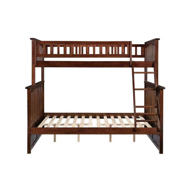 Atlantic Furniture Columbia Bunk Bed Twin Over Full in Walnut AB55204