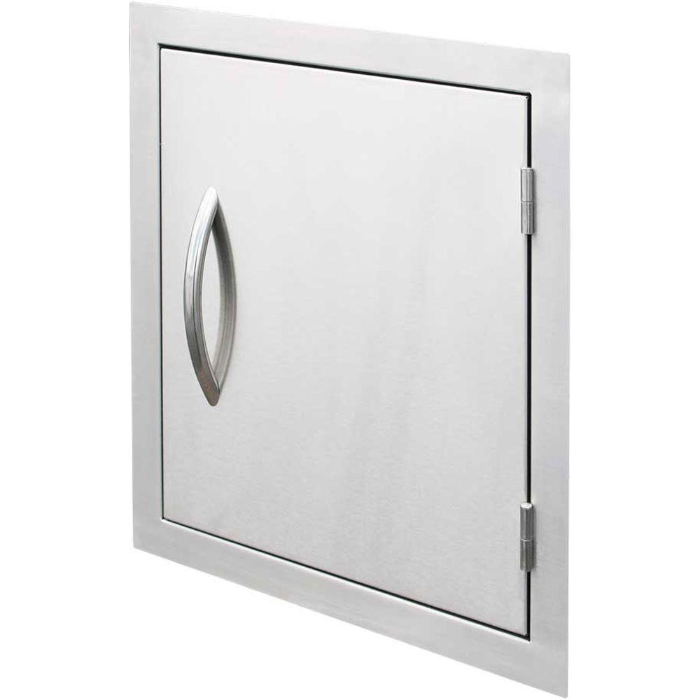 Outdoor Kitchen 18 in. Stainless Steel Vertical Storage Door