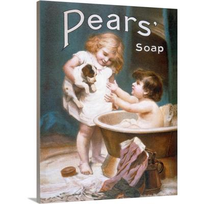 """Pears Soap Childrens Puppy Vintage Advertising Poster"" by Great BIG Canvas Canvas Wall Art"