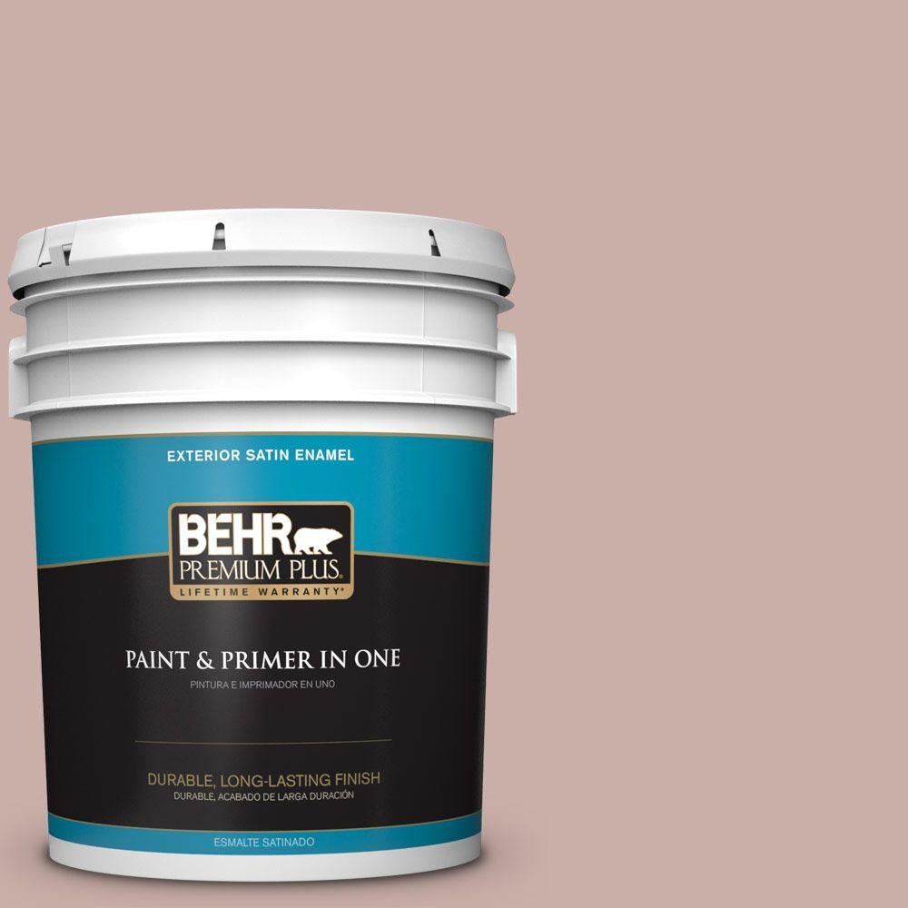5 gal. #HDC-CT-07A Vintage Tea Rose Satin Enamel Exterior Paint