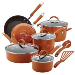 Cucina 12-Piece Pumpkin Orange Cookware Set with Lids