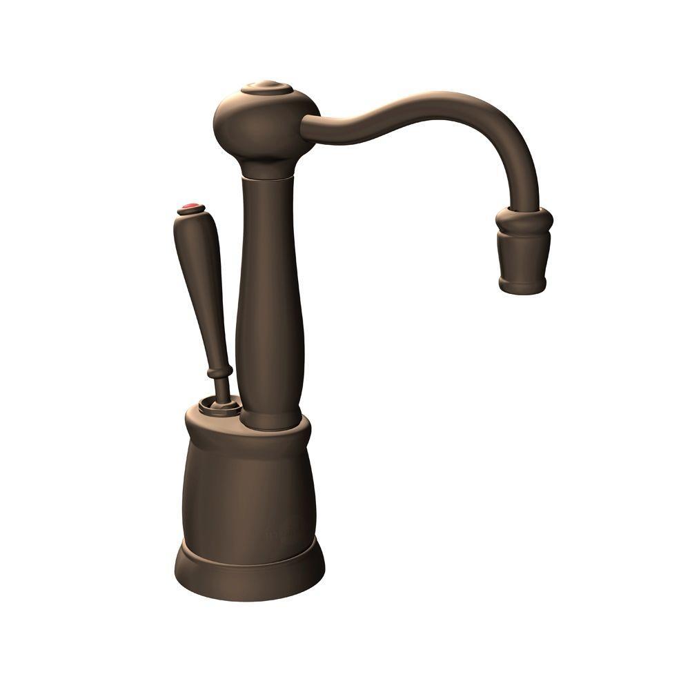 Indulge Antique Single-Handle Instant Hot Water Dispenser Faucet in Mocha Bronze