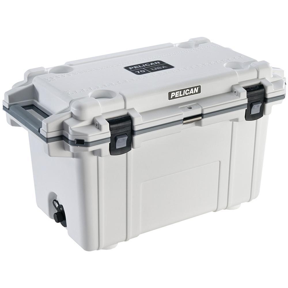 70 Qt. White Elite Deluxe Cooler