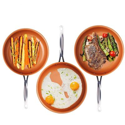 3 Piece Non-Stick Ti-Ceramic Round Fry Pan Set