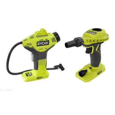 18-Volt ONE+ Cordless Power Inflator and Cordless High Volume Power Inflator 2-Tool Combo Kit (Tools Only)