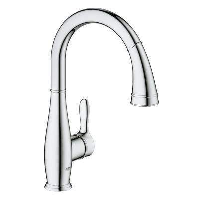 Parkfield Single-Handle Pull-Down Sprayer Kitchen Faucet in Chrome