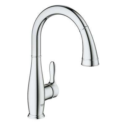 Parkfield Single-Handle Pull-Out Sprayer Kitchen Faucet in Chrome
