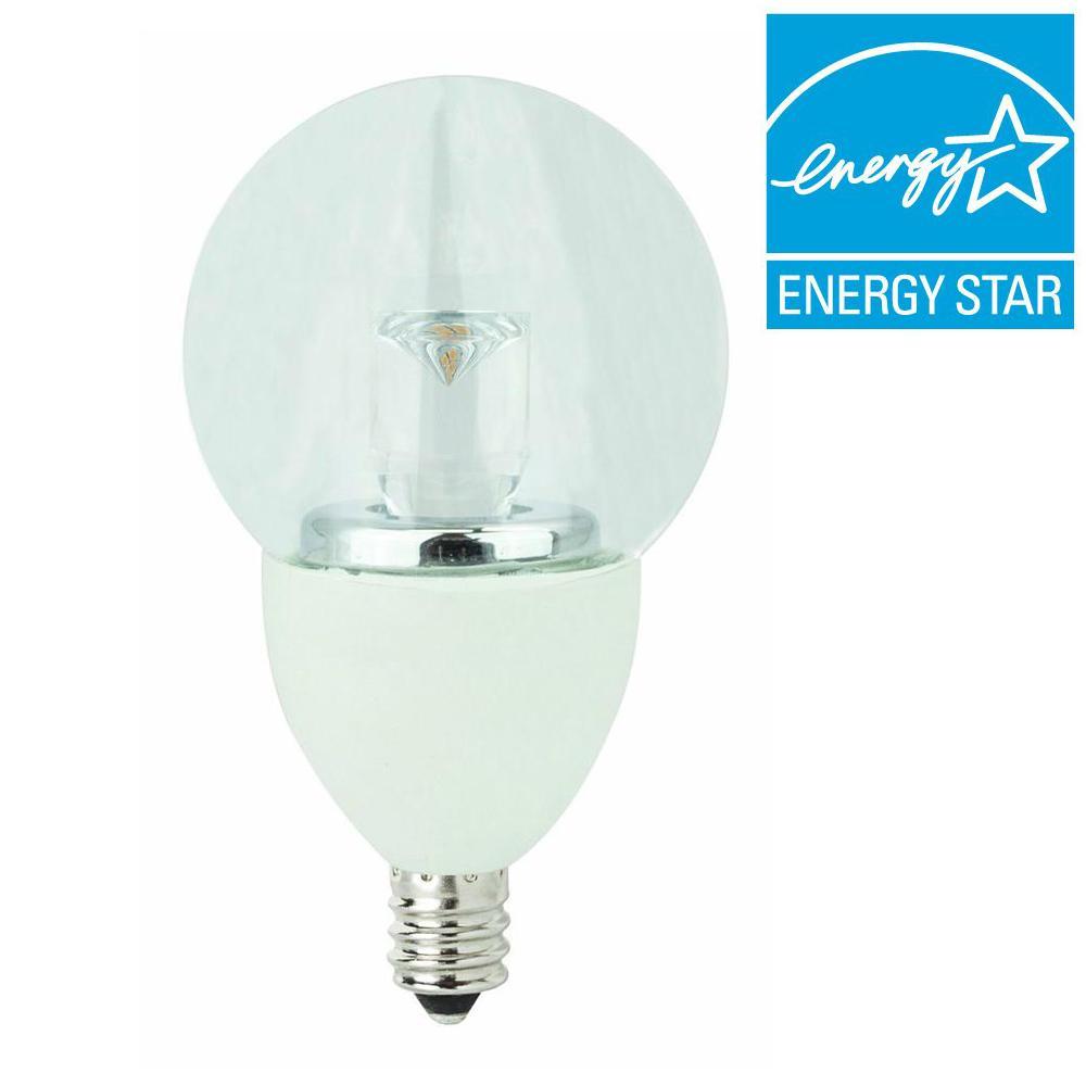TCP 25W Equivalent Soft White (2700K) G16 Candelabra Dimmable LED Light Bulb