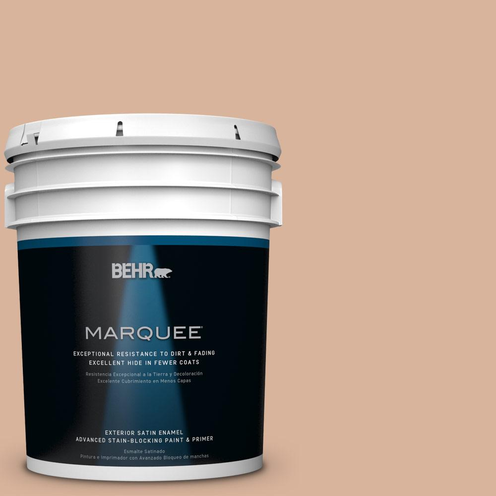BEHR MARQUEE 5-gal. #S230-3 Beech Nut Satin Enamel Exterior Paint