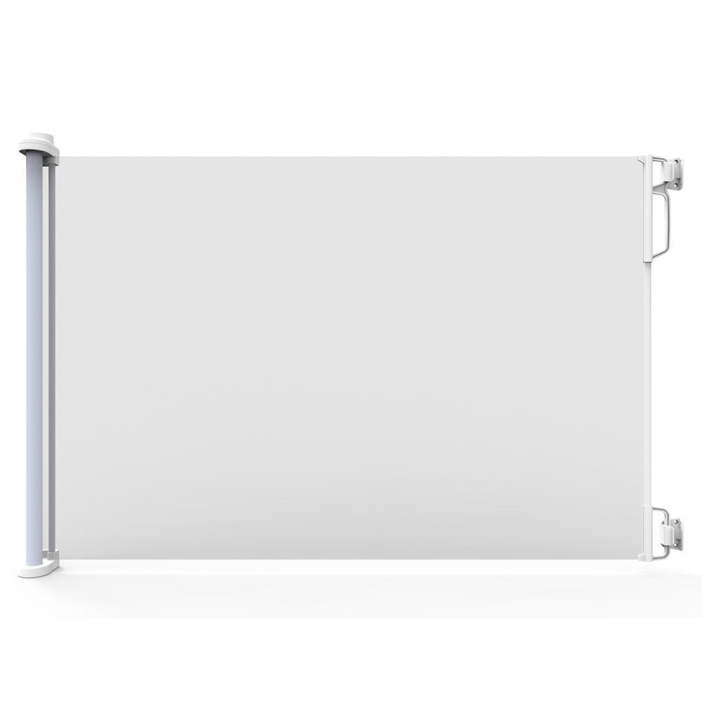33 in. H Extra Wide Indoor/Outdoor Retractable Gate, Extra Wide, White