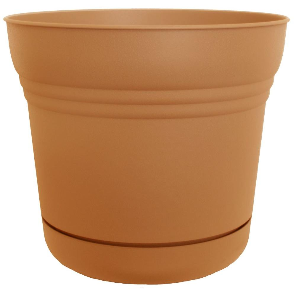 12 x 10.75 Tequila Sunrise Saturn Plastic Planter
