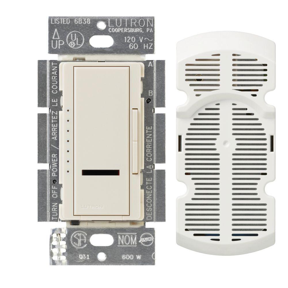 Lutron Maestro IR Multi-Location 7-Speed Digital Fan Control - Light Almond