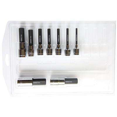 Metric Hex End Sockets and Bits Tool Set with ProGuard (9-Piece)
