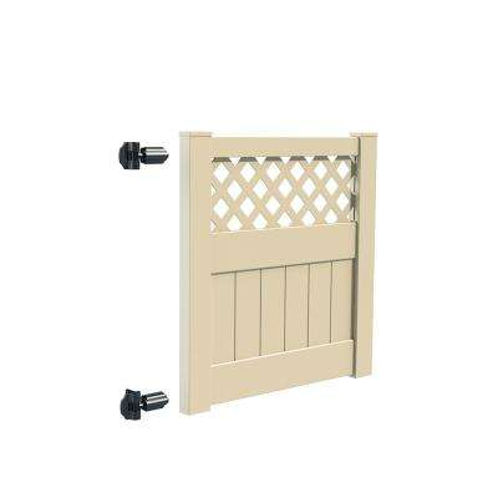 Carlsbad 4 ft. W x 4 ft. H Sand Vinyl Un-Assembled Fence Gate