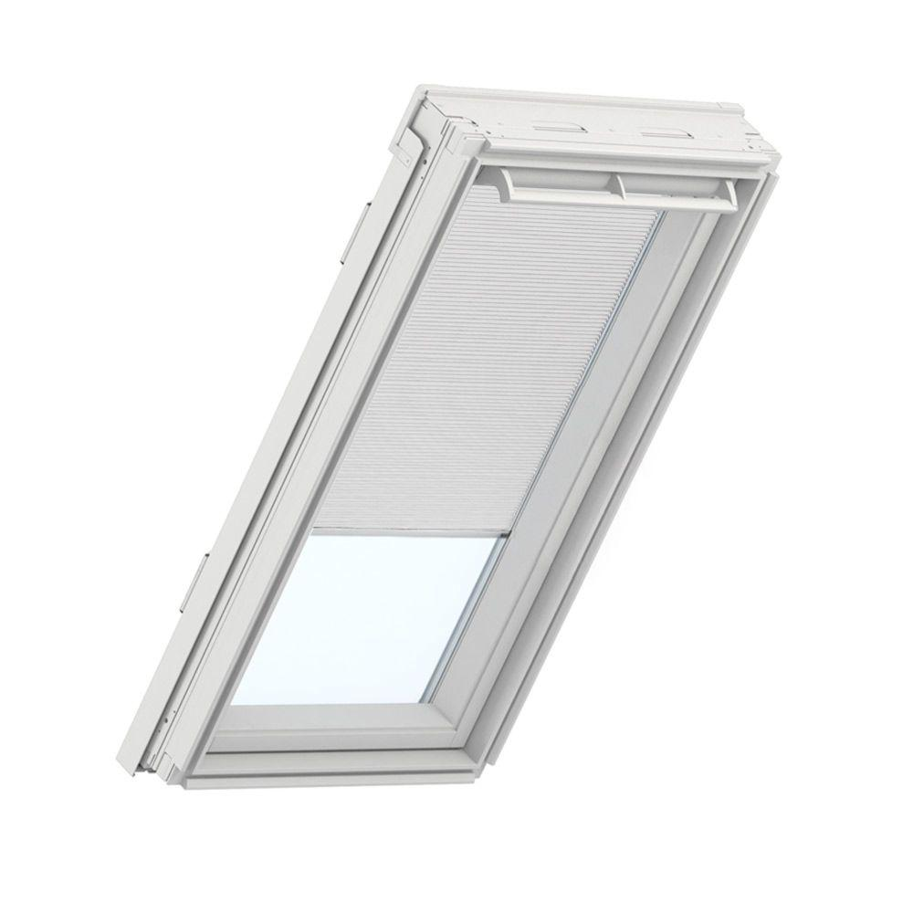 Velux white manual room darkening skylight blinds for gpu for Velux customer support