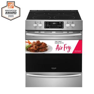 30 in. 5.4 cu. ft. Front Control Electric Range with Air Fry in Stainless Steel