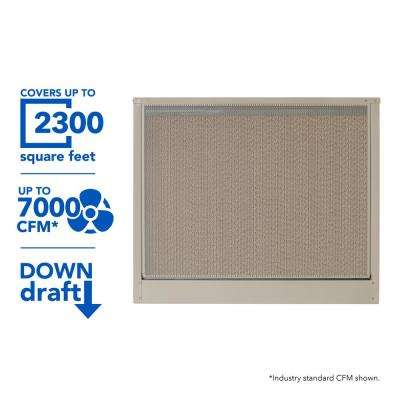 7000 CFM 2-Speed Down-Draft Roof 12 in. Media Evaporative Cooler for 2300 sq. ft. (Motor Not Included)