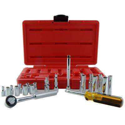 1/4 in. Drive Socket Set (21-Piece)