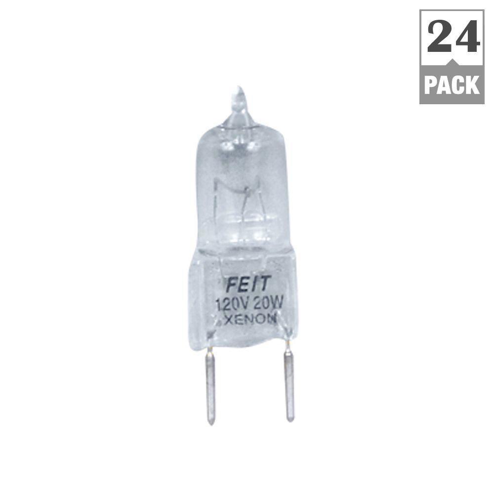 Feit Electric Xenon 20-Watt Halogen G8 Light Bulb (24-Pack)