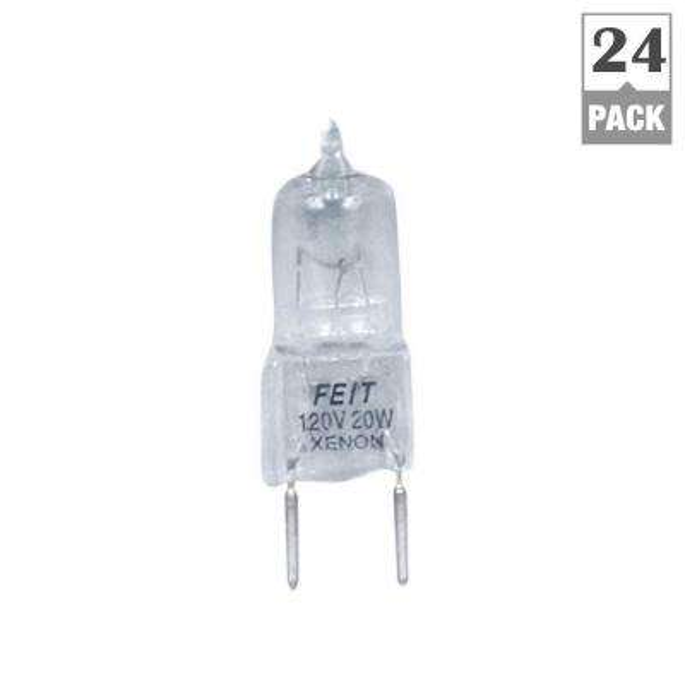 Xenon 20-Watt Halogen G8 Light Bulb (24-Pack)