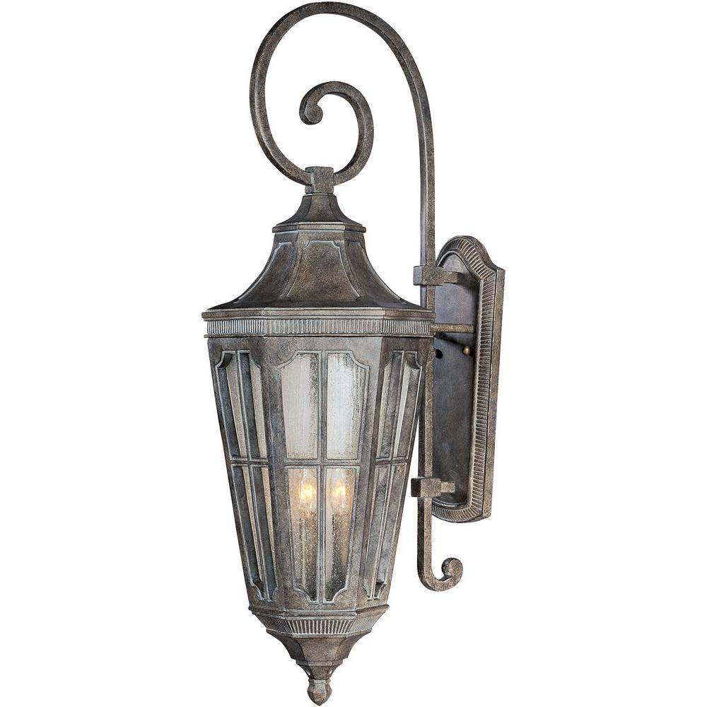 Beacon Hill Vivex 3-Light Sienna Outdoor Wall Lantern Sconce