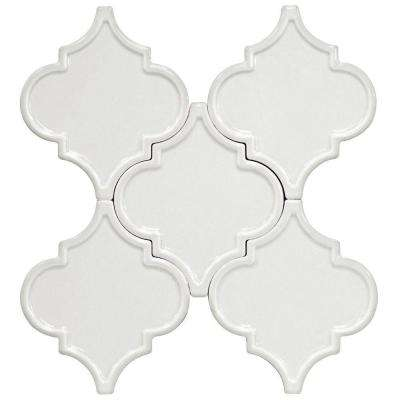 Vintage Lantern White 6-1/4 in. x 7-1/4 in. x 10 mm Ceramic Wall Mosaic Tile (5 Tiles Per Unit)