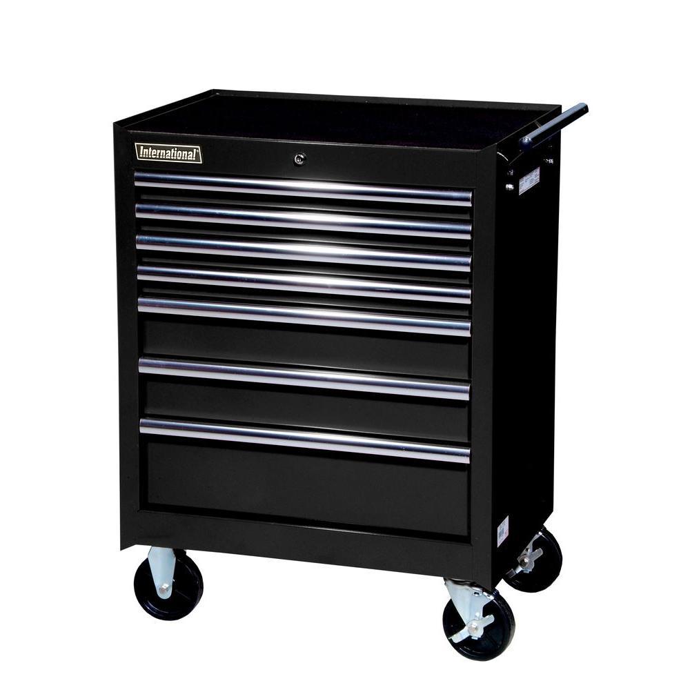 International 27 in. Tech Series 7-Drawer Cabinet, Black