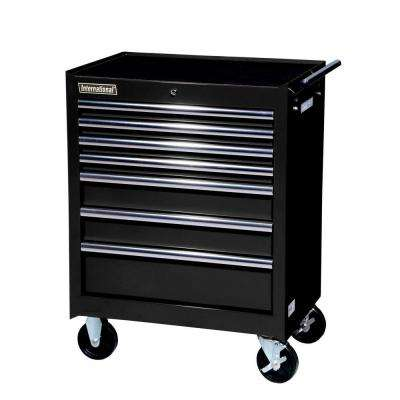 27 in. Tech Series 7-Drawer Cabinet, Black